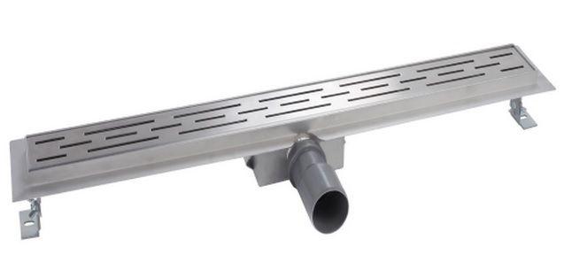 Mueller Luxa RVS douchegoot 80x7cm met flens