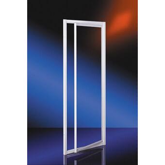 """Plieger Class draaideur 3 mm glas """"omkeerbaar"""" 86/90x185 cm voor nis of zijwand wit"""