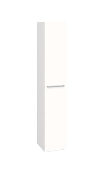 Plieger Qubic hoge kast m 1 deur 172,8x30 cm links/rechts glanswit