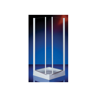 Plieger Royal hoekinstap 2-delig 6 mm glas 88/90x185 cm, chroom