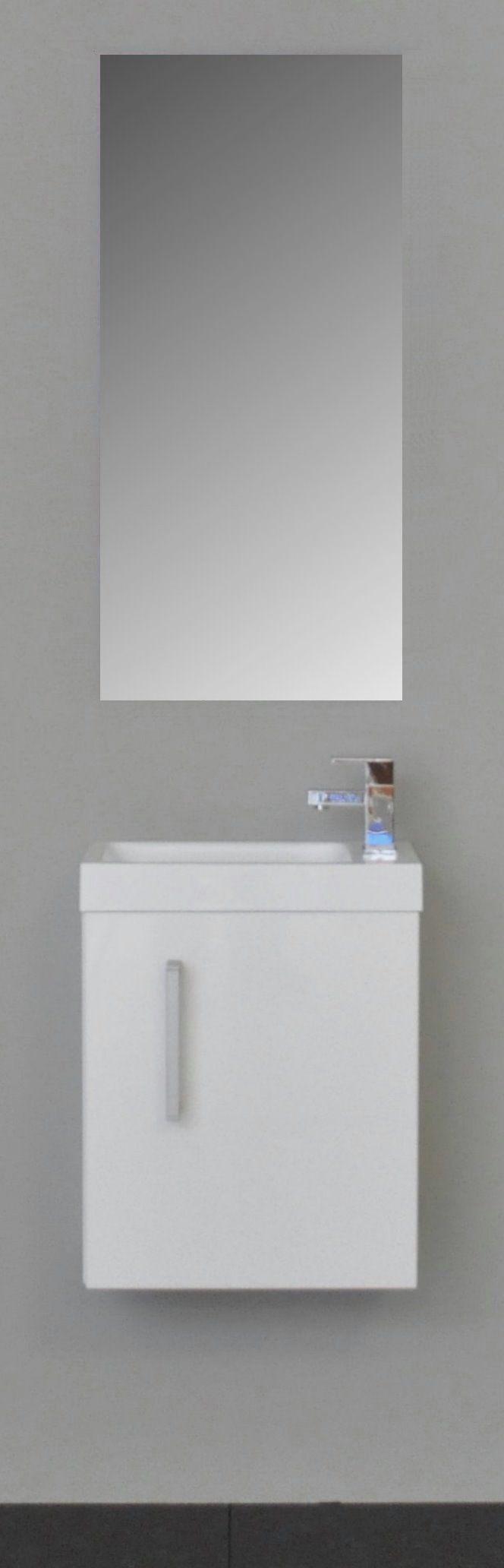 Sanicare toiletmeubel Q40 hoogglans wit 40 cm. met spiegel