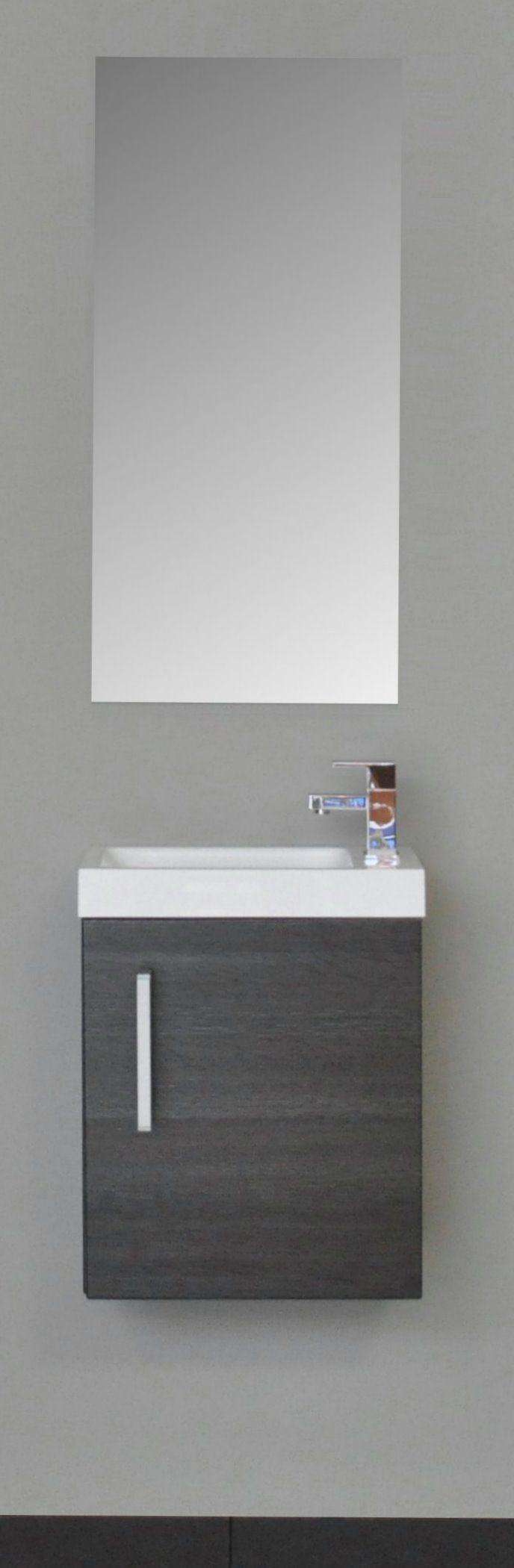 Sanicare toiletmeubel Q40 schots-eiken 40 cm. met spiegel