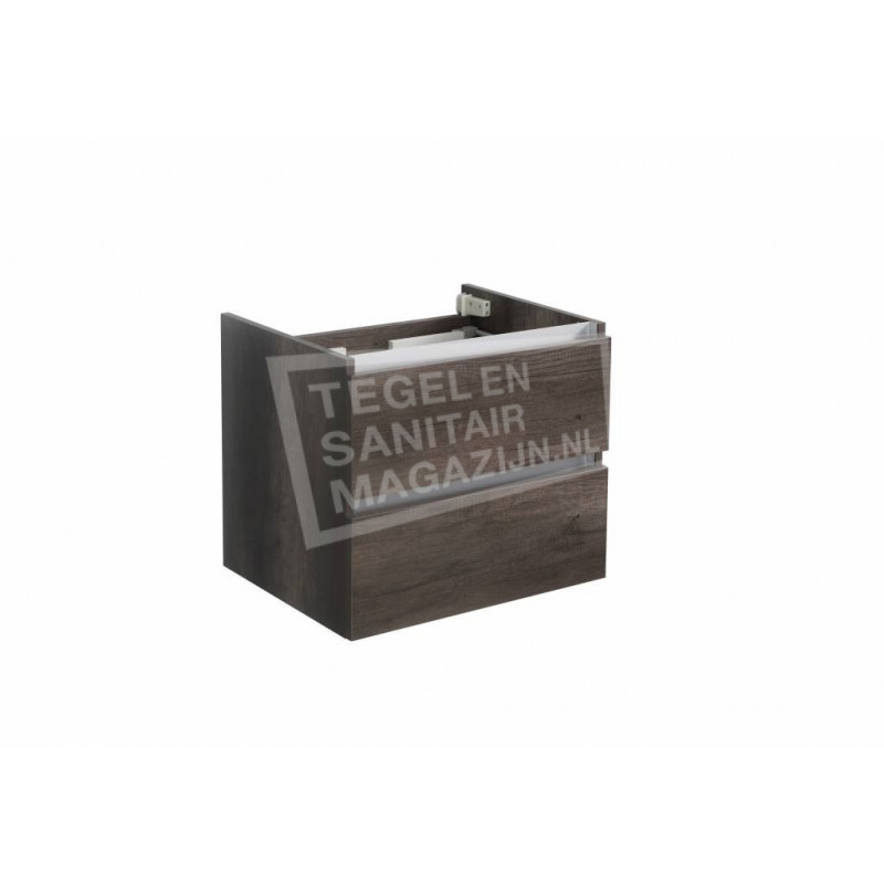 Sanilux trendline 60 x 47 cm Losse Onderkast met 2 Laden Century Oak