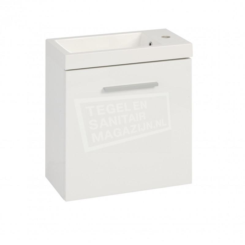 Schulz Elizabeth Toiletmeubel 50x25x50 cm Hoogglans Wit