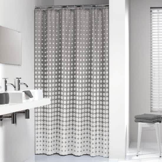 Sealskin douchegordijn Speckles polyester grijs print 180x200 cm