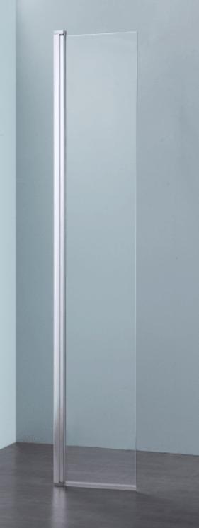 Sub 062 draaideel v/comb met zijwand 35x193,1 cm., zilver glans