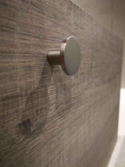 Sub 064 fonteinonderkast 40 cm rechts, grijs eiken 50