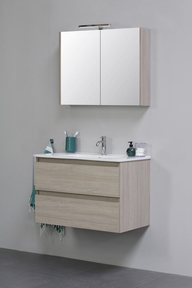 Sub Top badmeubelset 1 - inclusief porseleinen wastafel 60 cm en wastafelonderkast