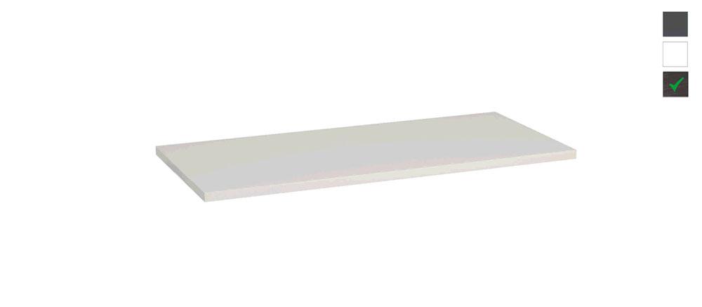 Sub topblad 101x47,5x2,5 cm, houtnerf grijs