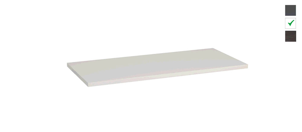 Sub topblad 101x47,5x2,5 cm, wit