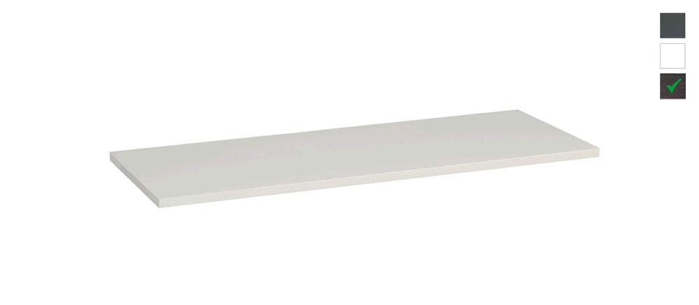 Sub topblad 121x47,5x2,5 cm, houtnerf grijs