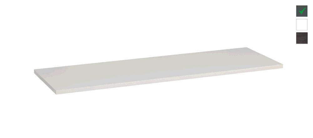 Sub topblad 161x47,5x2,5 cm, hoogglans grijs