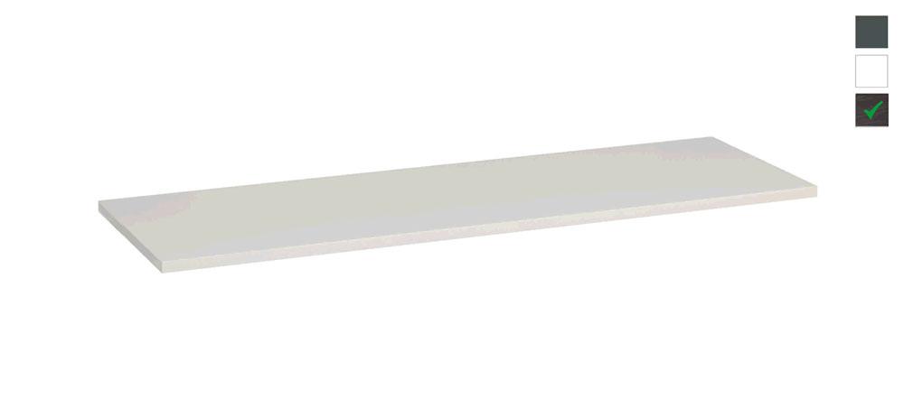Sub topblad 161x47,5x2,5 cm, houtnerf grijs