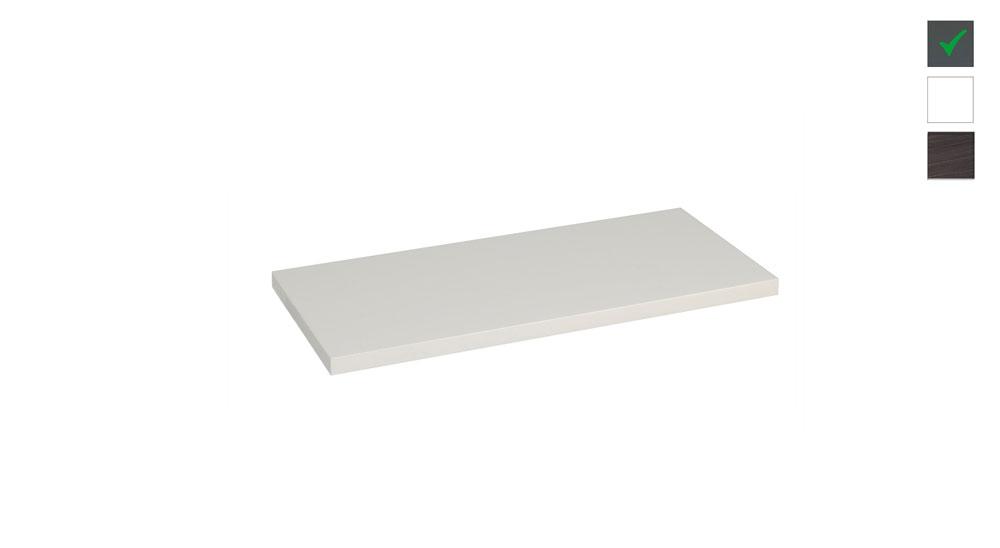 Sub topblad 61x47,5x2,5 cm, hoogglans grijs