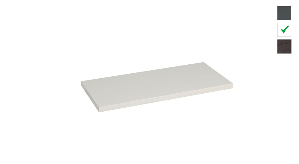 Sub topblad 61x47,5x2,5 cm, wit