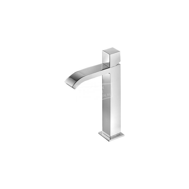 TRES Cuadro wastafelkraan hoog model met verdekte waterval uitloop 00661002