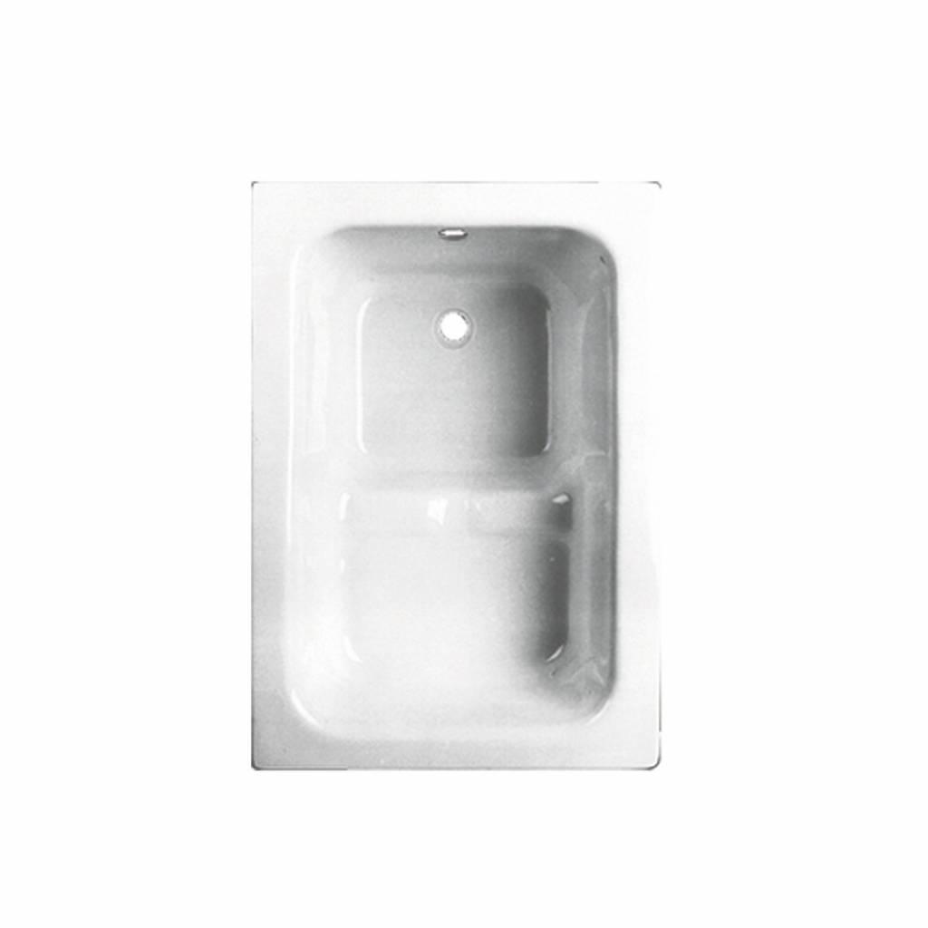 VM GO Pisa Zitbad 100x70 cm Acryl 21-42 cm Diep Inclusief Potenstel Go by Van Marcke