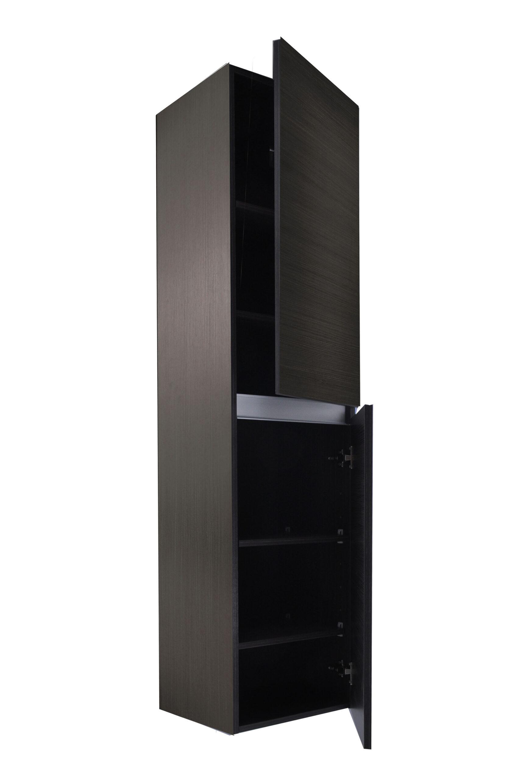 Wiesbaden Vision kolomkast met 2 deuren 160x35x35 cm, houtnerf grijs