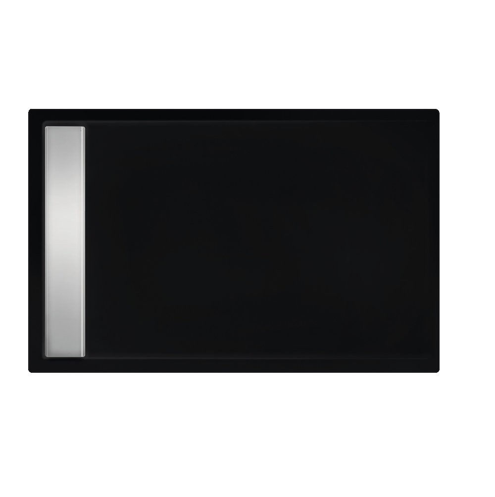 Xenz Easy-Tray Douchebak 170x80x5cm Ebony mat zwart