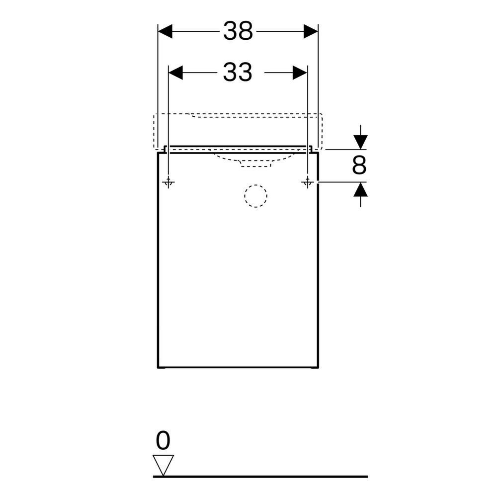 Geberit Xeno2 fonteinonderkast met deur 38 cm deur, scultura grijs
