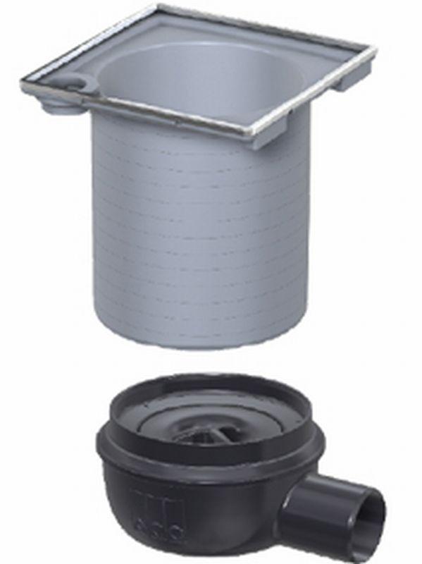 ACO Showerdrain Easyflow afvoerput horizontaal uitlaat 50 mm, stankslot 50 mm, grijs