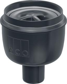 ACO Showerdrain Easyflow afvoerput verticaal uitlaat 50 mm, stankslot 50 mm, grijs
