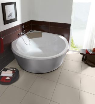 Villeroy & Boch Luxxus hoekbad 145x145 cm Quaryl, zonder badombouw, wit
