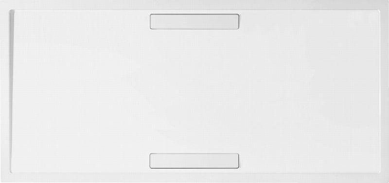 Villeroy & Boch Squaro douchebak 160x90x1,8 cm Quaryl, met afvoer + ondersteuning, grijs