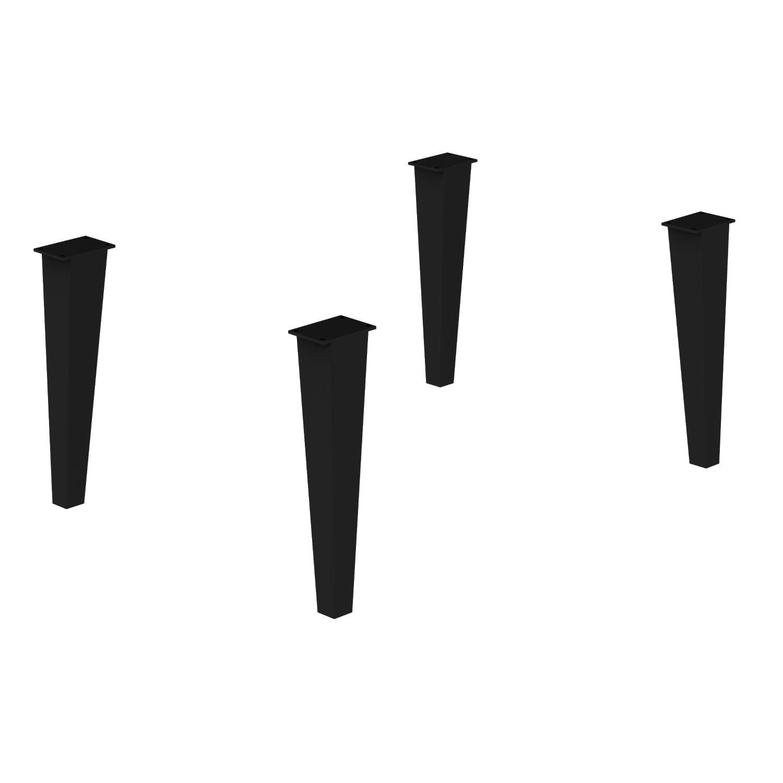 Allibert 4 Regelbare Poten Tbv Delta Badmeubelset Metaal Zwart Allibert