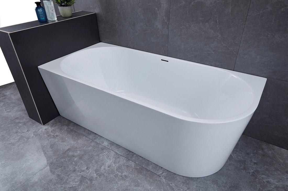 Saniclear Lilla vrijstaand bad hoekbad 180x80 links glans wit