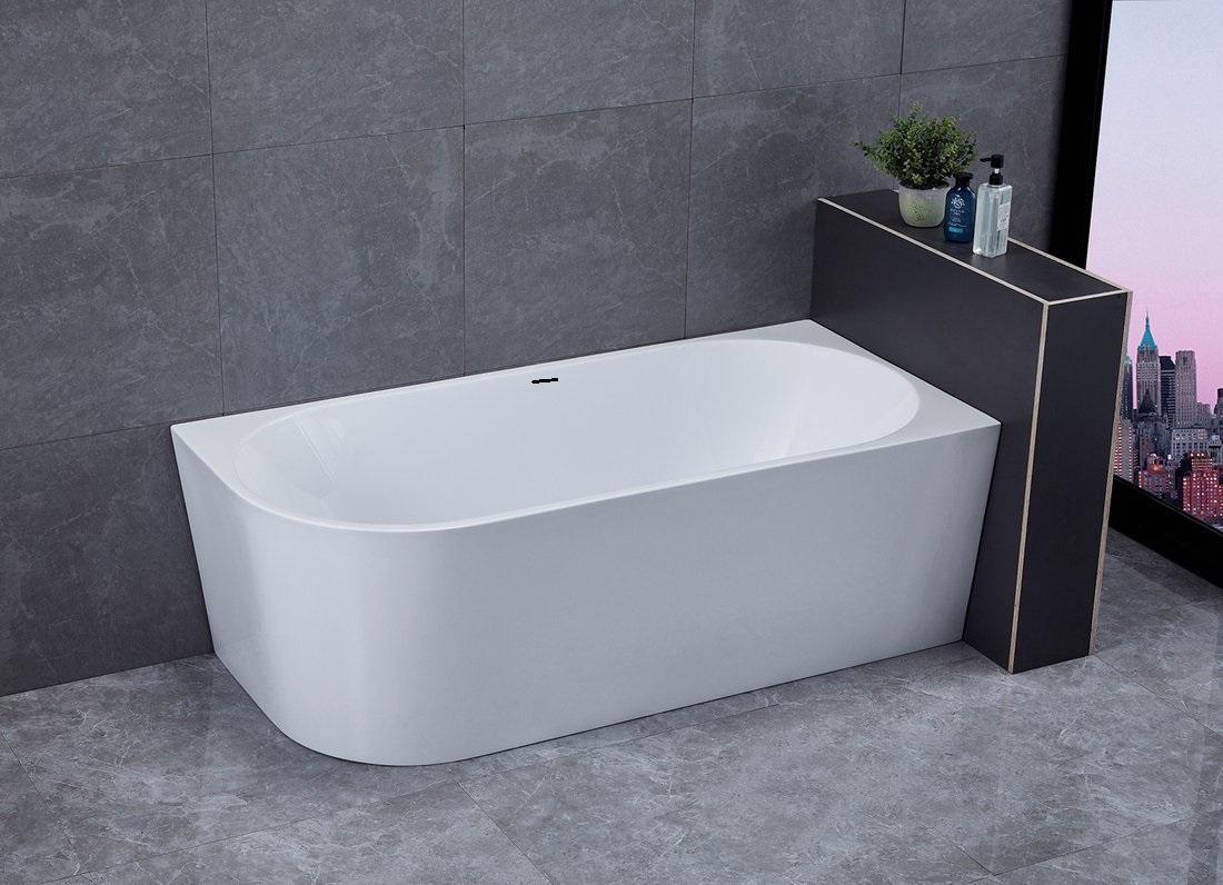 Saniclear Lilla vrijstaand bad hoekbad 180x80 rechts glans wit