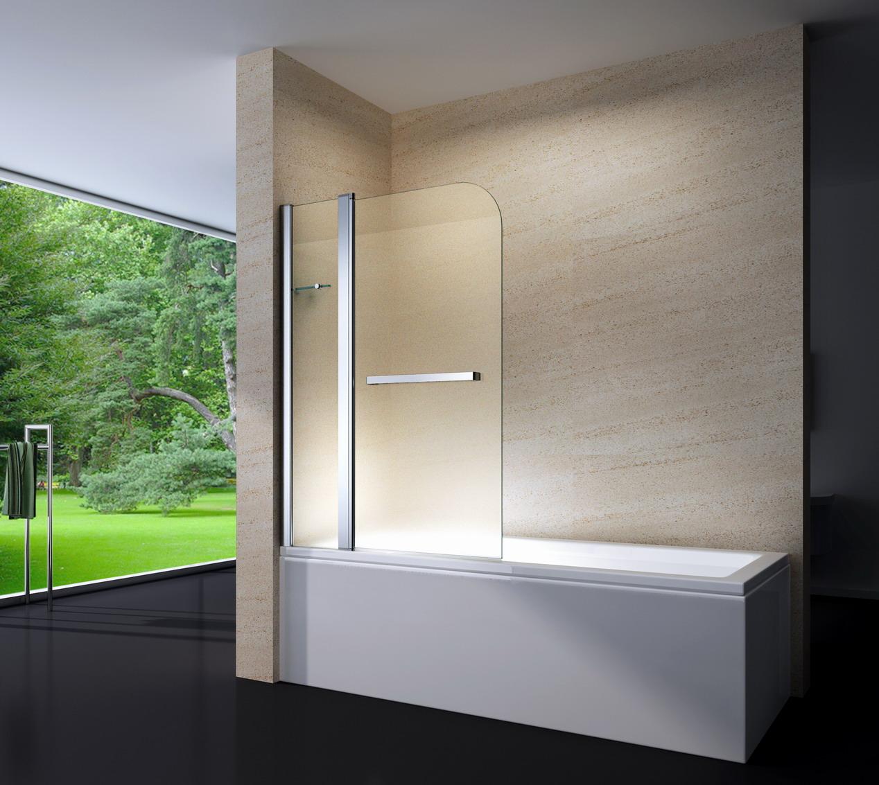 Sanifun badwand Eloisa mat glas L 140 x 120.