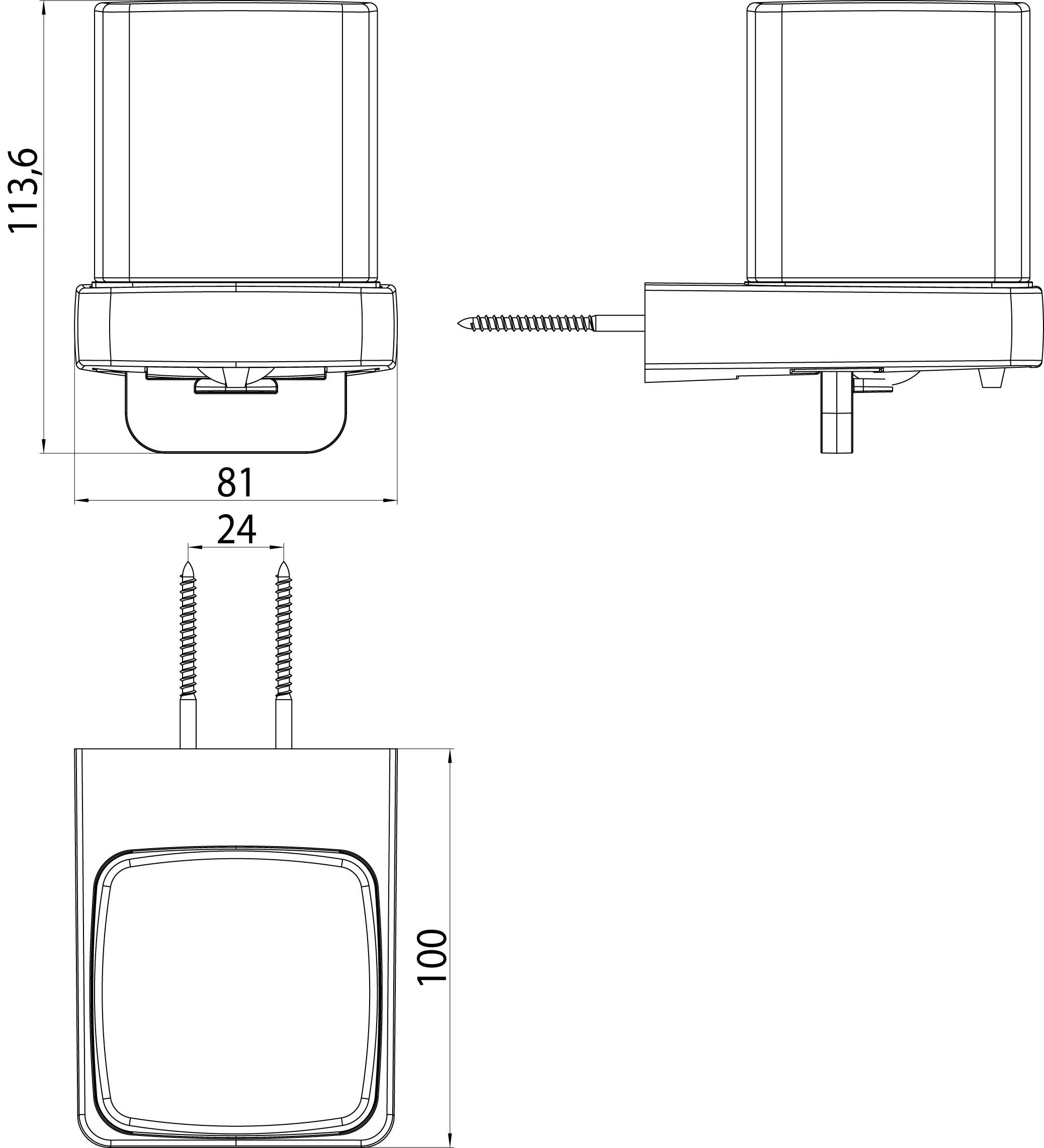 Emco Trend zeepdispenser met bediening aan de onderkant 130 ml, chroom