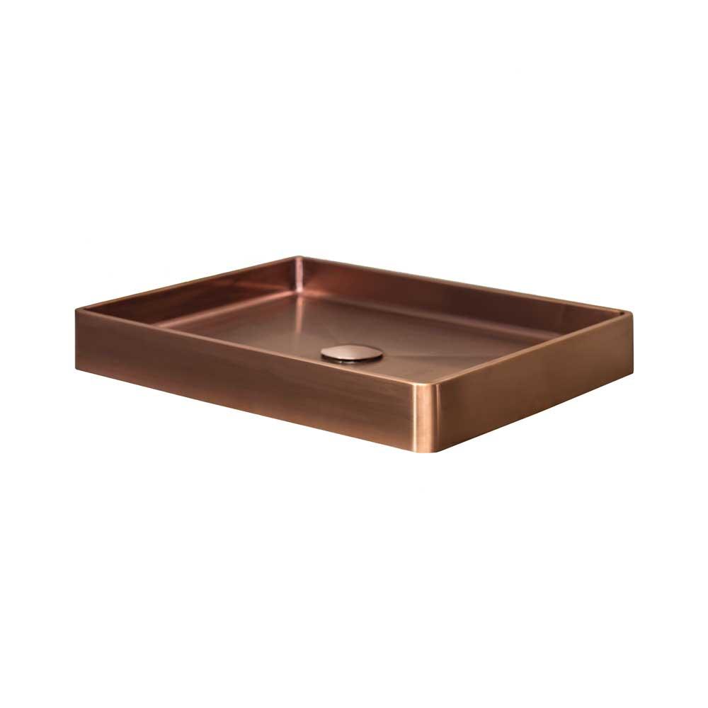Qisani Vanity opbouw wastafel 47x32x8cm copper
