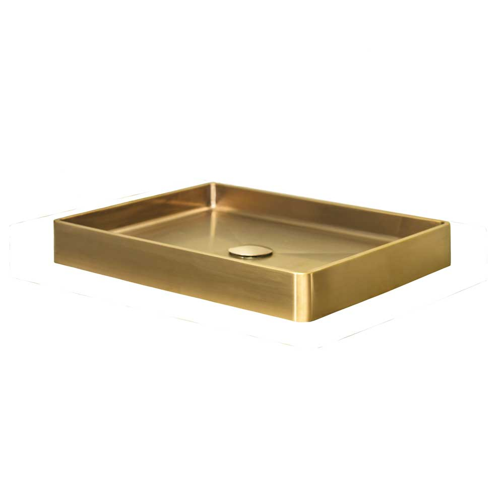 Qisani Vanity opbouw wastafel 47x32x8cm gold