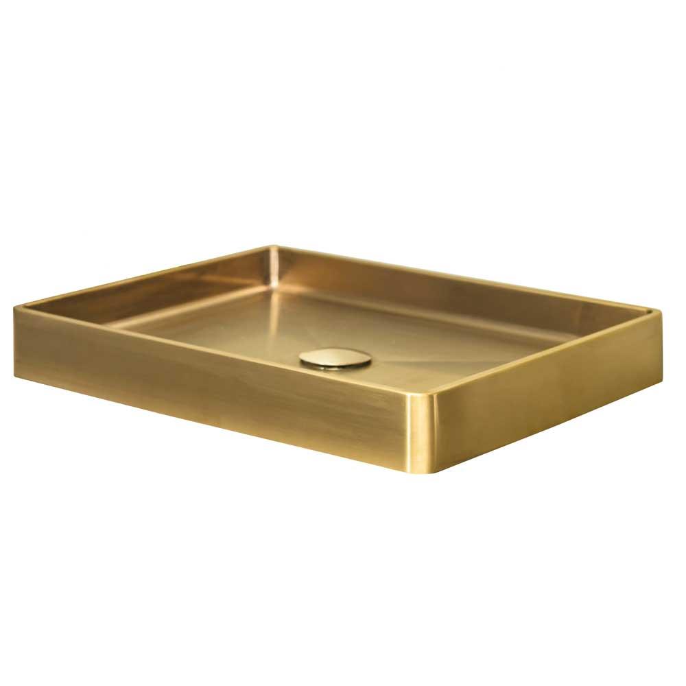 Qisani Vanity opbouw wastafel 52x41x7cm gold