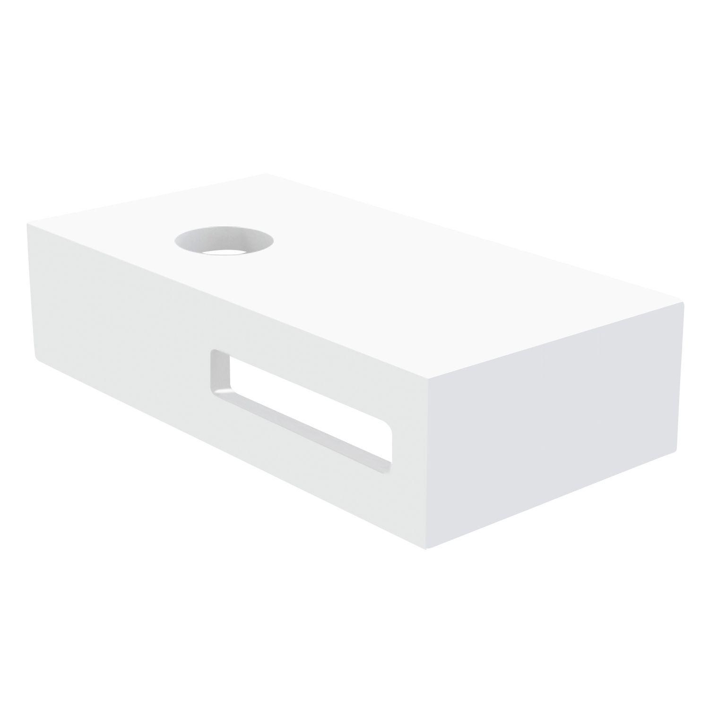 Best Design Fontein Planchet Malo Solid Surface 40x21x10 cm Glans Wit