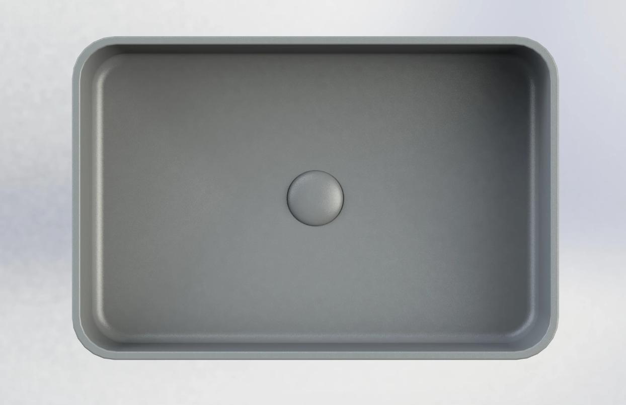 Sub 162 rechthoekige opzetwastafel 56,5 x 37,5 x 13 cm, beton grijs