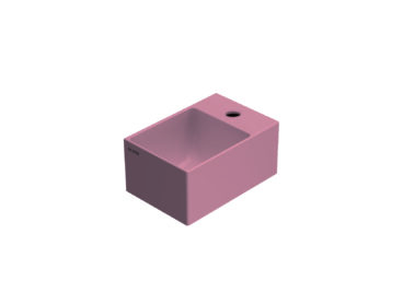 Globo T-Edge wastafel rechthoekig 30x20x14 cm met kraangat zonder overloop, fard
