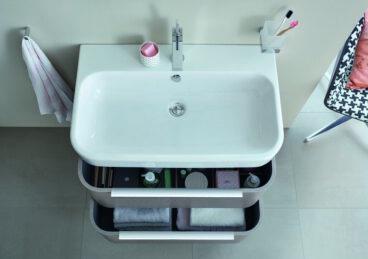 Duravit Happy D.2 meubelwastafel 80x50,5 cm geslepen met 1 kraangat, wit