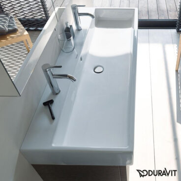 Duravit Vero Air wastafel 100x47 cm met twee kraangaten, wit