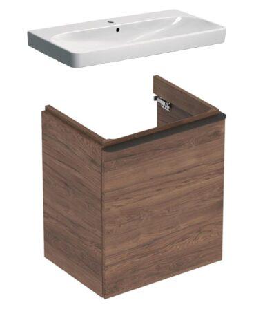 Geberit Smyle Square badmeubelset 35 - wastafel en wastafelonderkast 55 cm