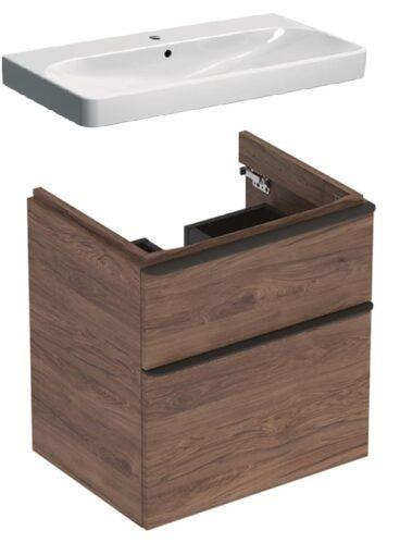 Geberit Smyle Square badmeubelset 39 - enkele wastafel en wastafelonderkast 120 cm