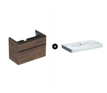 Geberit Smyle badmeubelset - inclusief wastafel en wastafelonderkast 90 cm