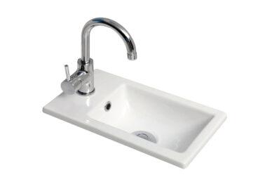 Sanicare Q40 keramische wastafel voor toiletmeubel 40x22cm wit