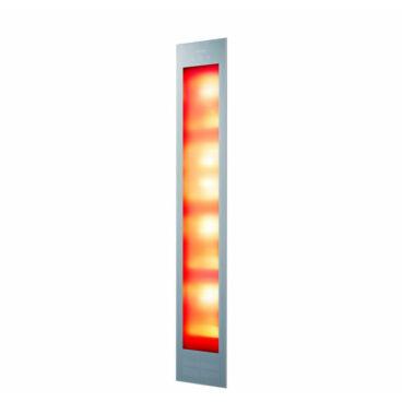Sunshower Deluxe Organic Grey UV en Infrarood Inbouwapparaat 32x187x16 cm Aluminium Antraciet