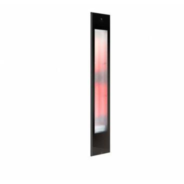 Sunshower Pure XL 2.0 Black Infrarood Inbouwapparaat 19.9x123.8x10 cm Aluminium Mat Zwart
