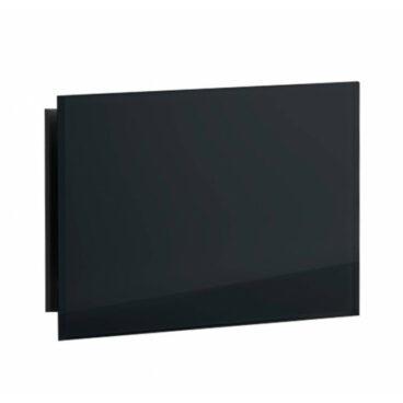 Sunshower Ventilatierooster Rechthoek 11x5 cm Zwart Glas (2 stuks)