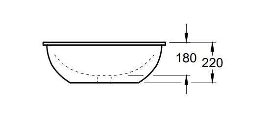 Villeroy & Boch Loop & Friends onderbouwwastafel ovaal 56x37,5 cm zonder overloop CeramicPlus, wit