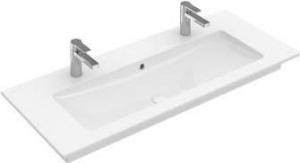 Villeroy & Boch Venticello meubelwastafel 120x50 cm met 2 kraangaten zonder overloop CeramicPlus, wit